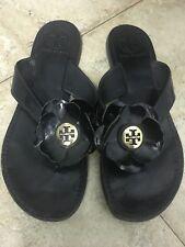 Women's Tory Burch Breely Black Slide Sandal Flip Flop Shoe Thong Size 7