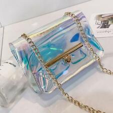 Women Holographic Bag Clear Transparent Mini Tote Hologram Handbag Purse Laser