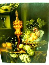 """MALRIEU Ecole du XXème siècle  """"Nature morte au verre de vin blanc"""" HST - 61x50"""