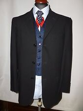 DANIEL HECHTER BLACK PURE WOOL    JACKET/BLAZER -  UK 40R