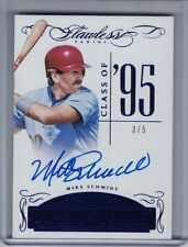 MIKE SCHMIDT 2016 Panini Flawless Hall of Fame Autograph Sapphire #3/5 (B9126)
