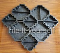 Concrete garden mould path driveway slab brick plastic floor tile interlocking