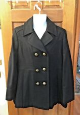 Esprit™ Collection Luxury Outerwear ~ Black Peacoat ~ Women Sz XL ~ EUC