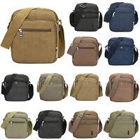 Men's Canvas Messenger Shoulder Bag Handbag Outdoor Travel Crossbody Bag LOT