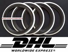 "Classic Oldtimer 14"" Black&White Wall Portawall Tire insert trim set x4"