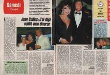Coupure de presse Clipping 1987 Joan Collins  (2 pages) Dynastie