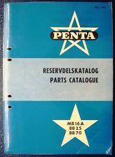 Penta mb16a bb25 Bb70 Motor Marino Repuestos lista catálogo 1957 Volvo