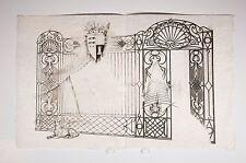incisione portone ferro battuto cane armoriali, verso 1950-60 ?
