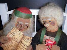 $25 SALE  PAIR Vintage Stockinette Germany Old Character dolls Original Tags