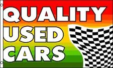 QUALITY USED CARS Flag 3x5 ft Business Advertising Sign Car Lot Auto Dealership