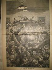 TARN CARMAUX MEETING SOCIALISTE JEAN JAURES GRAVURES LE JOURNAL ILLUSTRé 1896