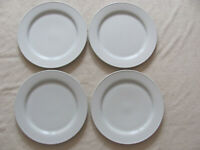 Pottery Barn - Great White Traditional - Set of 4 Dinner/Chop Plates - 11 3/4""