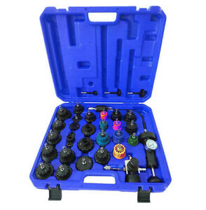 33 PCS Radiator Pressure Tester Kit Coolant Vacuum Type Cooling System Adapters