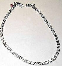 Adorned Made W Genuine Crystal Sterling Silver sep Anklet Simple