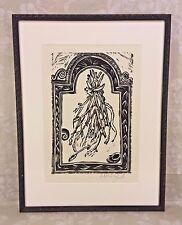 Artist Proof Wood Block Print in Frame from Gallery Lafayette J Kooilf Artist