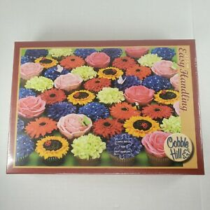 Cobble Hill Large Piece Easy Handling 275 Piece Jigsaw Puzzle Cupcake Garden NEW