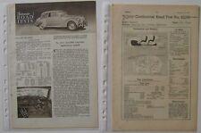 Lagonda 2 1/2 litre drop head coupe 2 articles de magazines