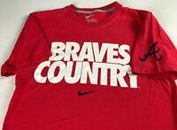 Braves Country T-Shirt Mens XS/S Nike Atlanta MLB Baseball Cotton Tee Adult Red