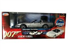 007 1985 CHEVY CORVETTE A VIEW TO  A KILL DIE CAST MODEL 1/18 BY ERTL 33851