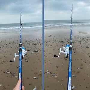 1 x 14FT Beach Caster Sea Fishing BLUE Ocean Rod + 1 x Shizuka 7000 SEA Reel