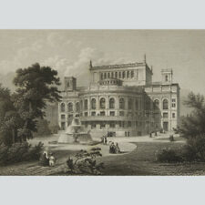 Berlin: Das Victoria-Theater in Berlin. Stahlstich um 1860.