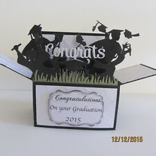 Handmade card, 3D  Card in a box -  Graduation ,PERSONALISED