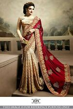 Indian Designer Royal Family Wedding Traditional Ethnic Party Wear Fashion Saree