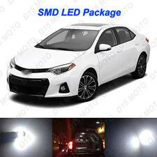 6x Ultra White LED Lights Interior Package kit for 2015 2016 2017 Toyota Corolla