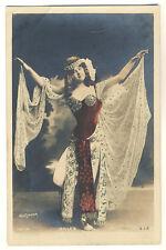 Actress ALICE GILLET Schauspielerin * Vintage 1900s Paris Photo PC by REUTLINGER