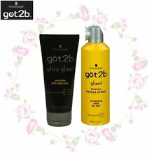 Got2b ULTRA GLUED STYLING GEL 6OZ + BLASTING FREEZE SPRAY 12OZ #1414
