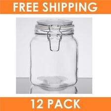 12 x 1000ml Glass Storage Canister Jar Food Jars with Hermetic Preserving Lids