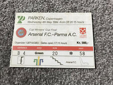 **ARSENAL V PARMA CUP WINNERS CUP FINAL REPLICA TICKET 1993-1994 *