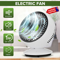 3 Speeds Laptop Desktop Fan USB Rechargeable Portable Cooling Quiet Table AU