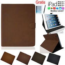 iPad 4 3 2 VELOURS Style Case Schutz Hülle Smart Cover Tasche Etui Folie