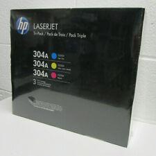HP Laserjet 304A CC531A CC532A CC533A 3 Toner Cartridges Cyan Yellow Magenta NEW