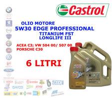 6 LT OLIO MOTORE 5W30 CASTROL EDGE PROFESSIONAL LONGLIFE 3 TITANIUM FST ACEA C3