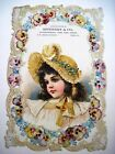 """Victorian Trade Card for """"Rothert & Co."""" w/ Pretty Girl By """"Frances Brundage"""" *"""