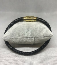 & Stainless Bracelet Montblanc Woven Black Leather
