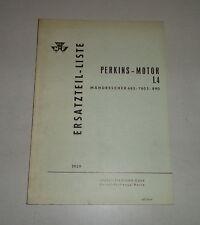 Teilekatalog Perkins-Motor L4 im Massey Ferguson Mähdrescher 685/780S/890, 1959