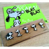 Peanuts Snoopy Museum TOKYO Limited Pin Badge set of 5 Monument Design Pins
