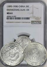 China 1890-1908 Kwangtung 20 Cents - NGC MS-61. Looks higher to me. L&M - 135.