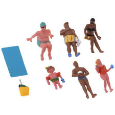 HO Scale 1:87 Seating and Standing People Figures for Beach Scenery Diorama