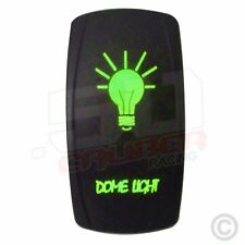 Rocker Switch LED Backlight Dome Light RV Toy Hauler Diesel Semi Truck Green