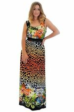 Polyester Animal Print Casual Women's Maxi Dresses