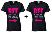 BFF shirt Best Friend Shirts Couple Matching Friends shirts Female She is Crazy
