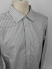 Jos. A. Bank Men's Traveler's Tailored Fit Gray Striped Dress Shirt Size 16 - 35