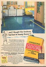 1946 vintage AD JOHNSON'S GLO COAT Floor Wax Fibber McGee & Molly  063016