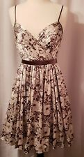 ARDEN B BROWN FLORAL PRINT DRESS LINED SPAGHETTI STRAPS SIZE SMALL NWT $148 hi