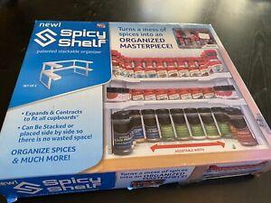 Spicy Shelf Cabinet Spice Rack Organizer As Seen On TV Stackable Organizer NIB