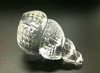 """Mint Waterford Crystal Large 4-1/4"""" Conch Sea Shell Paperweight Figurine Ireland"""